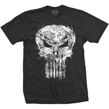 Marvel Comics Mens maglietta nera Punisher Skull Spiked