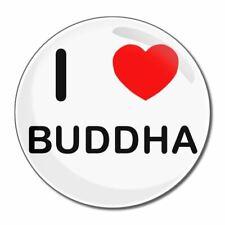 Me encanta Buddha ronda Espejo de Cristal Compact 55mm/77mm badgebeast