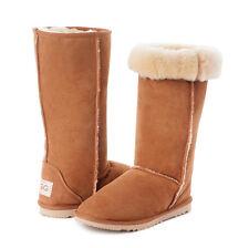 4919ff85a80 Ozwear UGG Eva Premium Sheepskin Wedge BOOTS Black L06 Ladies 6au us ...
