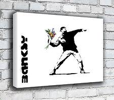 Banksy Canvas - Flowers