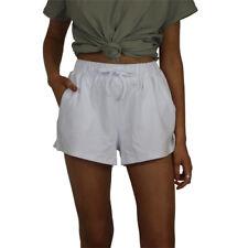 New Women's Stussy Wharfie High Waist Shorts White