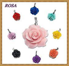 Anhänger Rose 20mm oder 25mm  Koralle (rekonstruiert, rosa)  (KN 3)