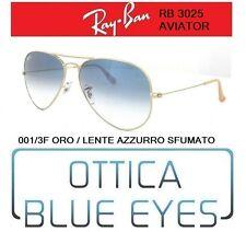 Occhiali da Sole RAYBAN RB 3025 AVIATOR CLASSIC 001/3F oro Sunglasses sfumato