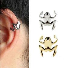 Nice Fashion Lady Punk Silver Tone Golden Frog Cuff Ear Clip Wrap DIY Earring