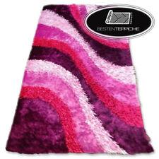 Hochwertiger Teppich SHAGGY MACHO Lila Wellen Polyester Moderne Weiche, Dicke