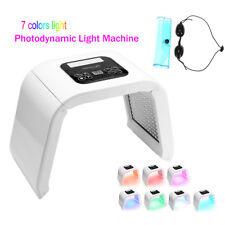 7 Colors LED Photon Facial Neck Mask PDT Photodynamic Microcurrent Skin Care LM