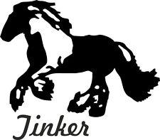 "2 x Auto Aufkleber TINKER Pferd ""Gupsy Cob""  Car Sticker koturgeschnitten"