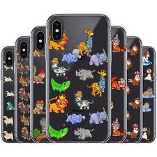 dessana Niedliche Tier Pattern Silikon Schutz Hülle Case Handy Tasche für Apple