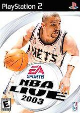 NBA Live 2003 GAME & LIVESTYLE MUSIC SOUNDTRACK Sony PlayStation 2 2K3 13 PS PS2