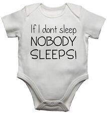 BABY Gilet BODYSUITS BABY cresce se non ho sonno nessuno dorme COTONE UNISEX