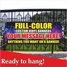 FULL COLOR VINYL BANNER Banner Vinyl / Mesh Banner Sign Custom Name Personalized