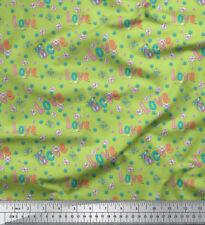 Soimoi Fabric Text & Butterfly Decor Fabric Printed BTY - BT-507D