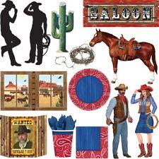 Oeste Salvaje Fiesta Cowboy INDIO WESTERN motos Cumpleaños De Niños Decoración