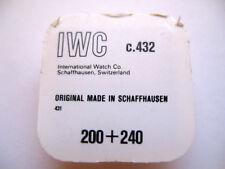 IWC INTERNATIONAL 431,432 CENTRE WHEEL PART 200+240