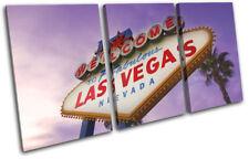 Las Vagas sign Purple Landmarks TREBLE TOILE murale ART Photo Print