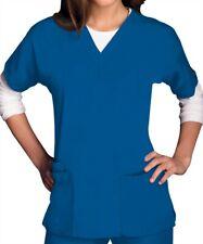 CHEROKEE WORKWEAR Women's V Neck SCRUBS TOP 4700 - Royal Blue
