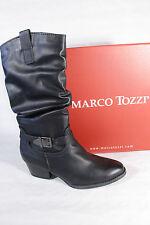 Marco Tozzi Damen Stiefel Stiefeletten schwarz, leicht gefüttert, RV,25335  NEU!