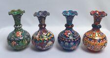 Handmade & Hand painted Ceramic Small Size Thin Vase