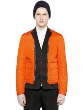 Dsquared2 Men's Orange Quilted Jacket With Detachable Vest  Size M L XL
