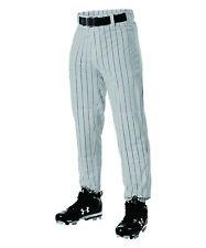 Green Stripe Open Bottom Alleson Athletic ADULT 3X 3XL Baseball Pants GREY