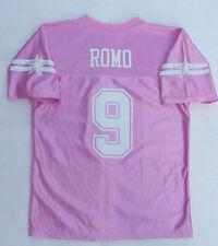 NWT TONY ROMO 9 Dallas Cowboys Jersey Pink Youth Girls/Jr Womens Sz L XL