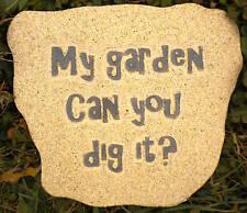 Garden plaque plastic mold  My Garden Can you Dig it?