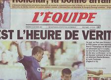 journal  l'equipe 13/10/2000 CYCLISME CHAMPIONNAT DU MONDE MONTRE HONCHAR FOOT
