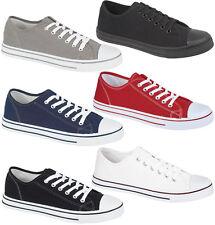 Para Hombre Chicos Con Cordones Gimnasio Deportes Entrenadores Zapatillas De Tenis Lona Zapatos De Salón Talla