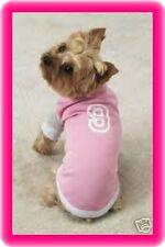 Large Pink Dog Baseball Jersey Dog Shirt Poodle Doberman Pet Clothing