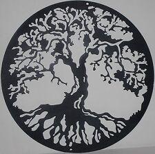Tree of Life Metal Wall Art Home Decor Flat Black