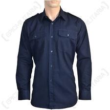 Militar Ripstop camisa de campo-todos Los Tamaños Azul Marino Algodón ejército Tactical Top