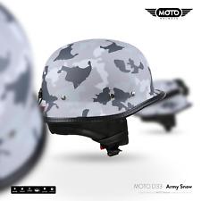 MOTO D33 ARMY S. CASCO DEMI-JET VESPA SCOOTER HELMET RETRO VINTAGE S M L XL XXL