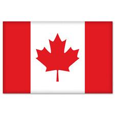 """Canada Canadian Flag car bumper sticker decal 5"""" x 4"""""""