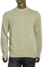 $195 New Mens Michael Kors Crew Neck Linen Cotton Natural Pullover Sweater XL