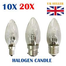 10/20X Eco Halogen Clear Candle Light Bulb E14 E27 B22 Dim Energy Saver