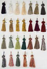 """Tassels - ~3.5"""" long w/ 1"""" loop- Set of 2 tassels - 26 Vibrant Colors!!!"""