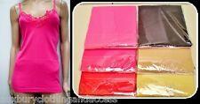 Brand New Ladies Vest/Cami top 100% Cotton With Lace M,L,X/l 2x/l Only £3.99p