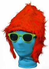 (40815 naranja) Zottel felpa Hat - piel - media tapa Carnaval Peluca
