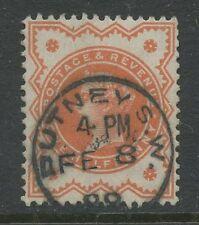 Londra Putney 1899 COMPLETO verticale timbro su QV 1 / 2D vermiglio