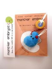 BLUE MONSTER EMBRYO DESIGNER PLUSH FLEECE MINI FIGURE BY TINY OYSTER LABS