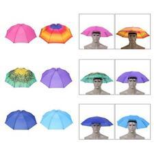 a41a0b39c9893 Foldable Outdoor Sun Umbrella Hat Golf Fishing Camping Headwear Cap Head Hat