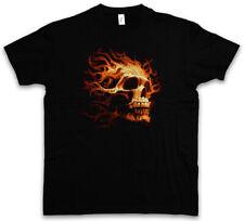 BURNING SKULL I T-SHIRT - Brennender Schädel Dead Totenschädel Totenkopf Tattoo