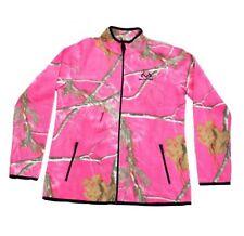 RealTree Womens Camo Full Zip Hot Pink Fleece Jacket Coat
