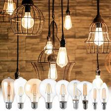 1-8er Set LED Filament Leuchtmittel E14 E27 Sockel Glas Strahler DIMMER WOFI