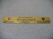 Namensschild für Modellständer mit Daten  -  Küstenwache Helgoland