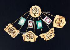 Car Hanging Mini Quran Selected Surah Islamic Gift Wooden Muslim Prayer