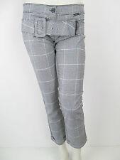 Denny Rose  Hose Pants Kariert Jeans Neu S 26 27
