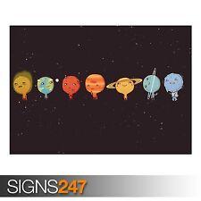 Sistema solare (AD436) FUNNY POSTER-Foto con stampa poster art A0 a A4