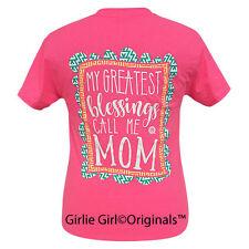 """Girlie Girl Originals """"Mom"""" Safety Pink Short Sleeve T-Shirt"""
