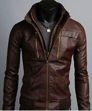 Men's Leather Jackets Korean Style Casual Slim Fit Biker leather jacket men